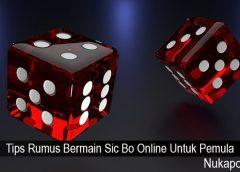 Tips Rumus Bermain Sic Bo Online Untuk Pemula